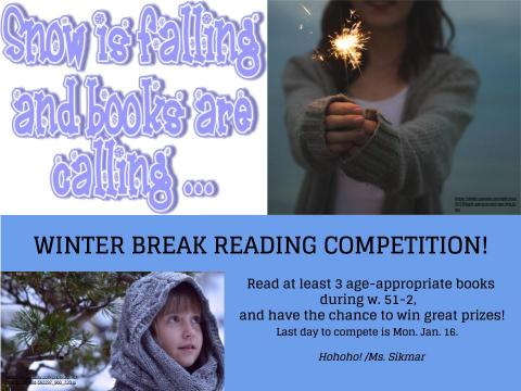 Winter break reading competition!