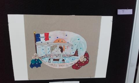 Yr 7 student won 2d prize in the drawing competition from Alliance Francaise Halmstad