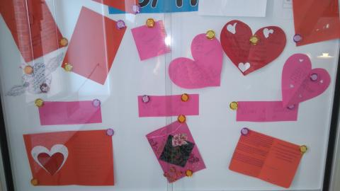 Winners of the Senior school Valentine's Day Card competition!