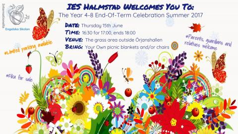 Thu. June 15 Y4-8 End of term celebration